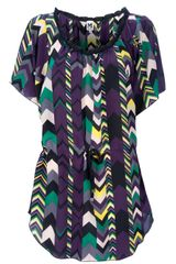 M Missoni Silk Tunic - Lyst