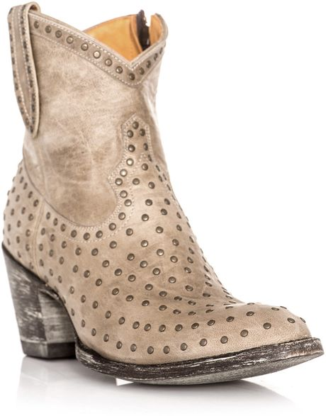 mexicana studded ankle boots in beige brown lyst
