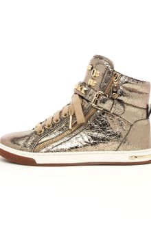 Michael by Michael Kors Metallic Glam Studded Hightop - Lyst