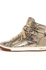 Michael by Michael Kors Metallic Glam Studded High Top - Lyst