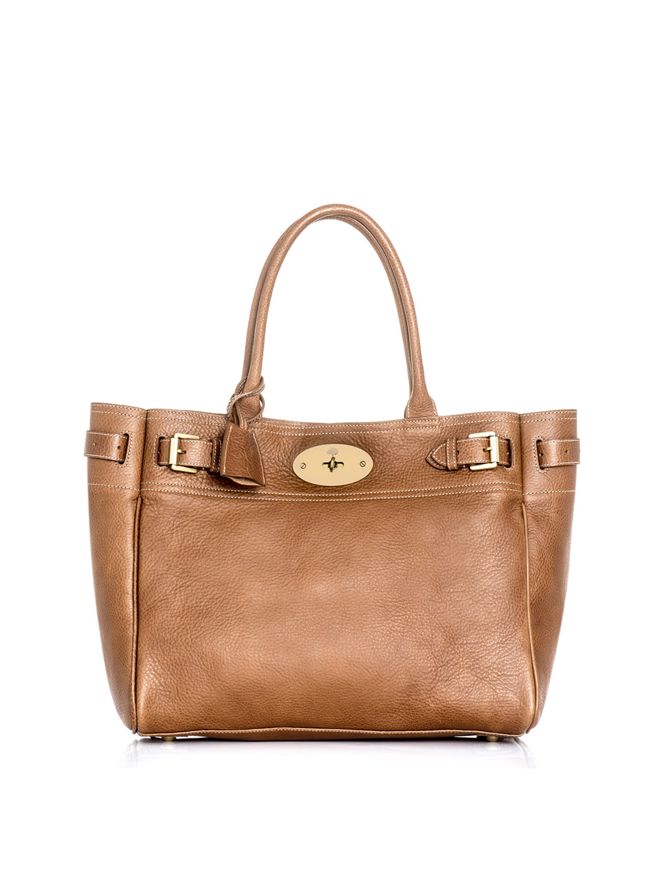 Mulberry bayswater tote bag in brown tan lyst for The bayswater