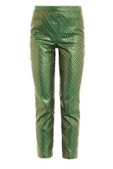 Opening Ceremony Emerald Dot Brocade Trousers - Lyst