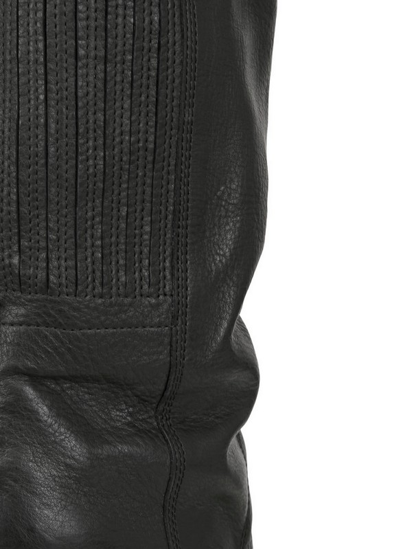 Lyst Rick Owens 120mm Suede Thigh High Wedged Boots In Black