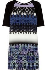 Tibi Jude Printed Silk and Jersey Dress - Lyst