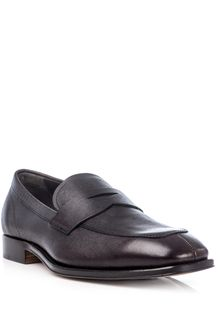 Tod's Grained Leather Penny Loafers - Lyst