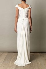 Vivienne Westwood Gold Label Cocotte Georgette Drape Dress in White (ivory) - Lyst