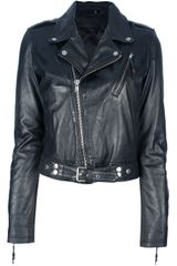 Blk Dnm Leather Biker Jacket - Lyst