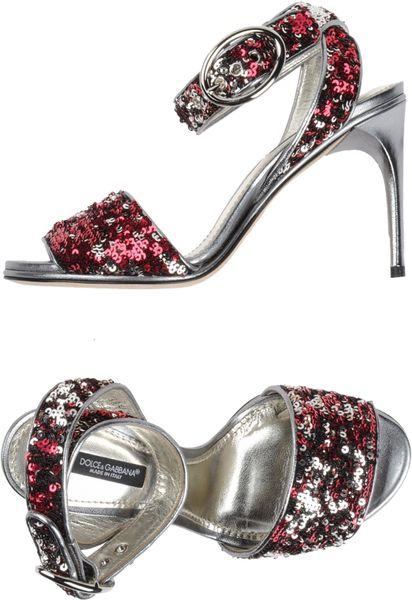 Dolce & Gabbana High-heeled Sandals in Red (maroon)