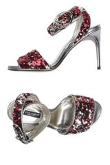 Dolce & Gabbana Highheeled Sandals in Red (maroon) - Lyst