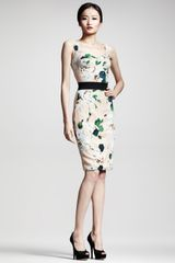 Dolce & Gabbana Floralprint Panel Dress - Lyst