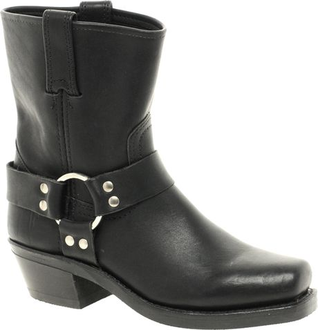 frye harness 8r ankle boots in black lyst
