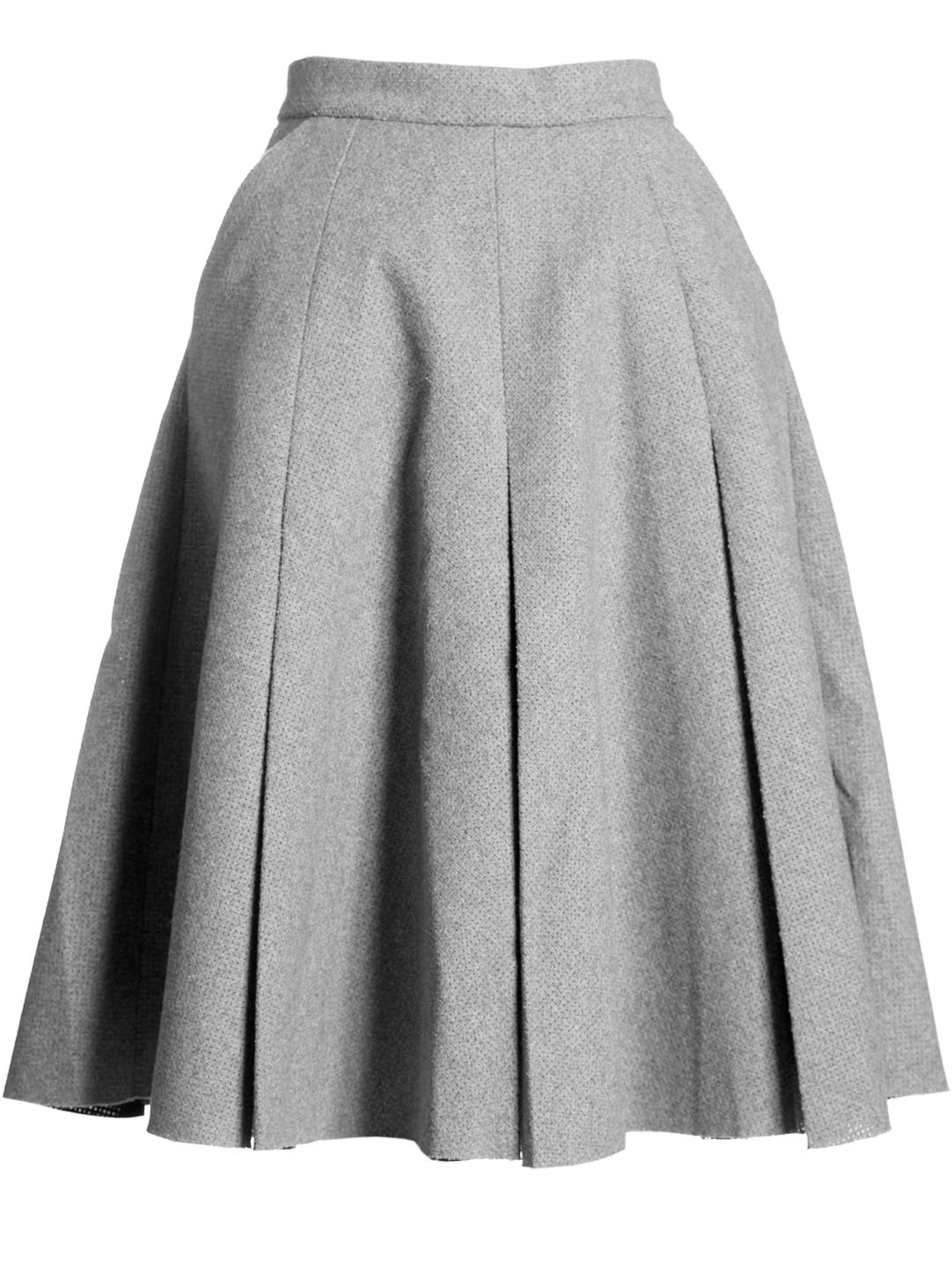 J.w.anderson Jw Anderson Womens Box Pleat Skirt in Gray | Lyst