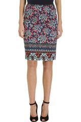 Prabal Gurung Floral Pencil Skirt - Lyst
