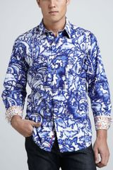 Robert Graham Waterprint Sport Shirt - Lyst