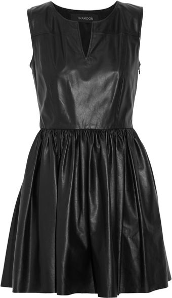 Thakoon Leather Mini Dress - Lyst