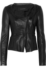 Thakoon Leather Peplum Jacket - Lyst