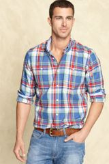 Tommy Hilfiger Slim Fit Mitchell Shirt in Blue for Men - Lyst