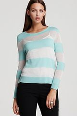 Vince Camuto Long Sleeve Lurex Stripe Sweater - Lyst
