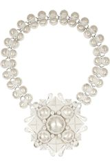 Bottega Veneta Enamelled Sterling Silver Necklace