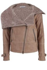Brunello Cucinelli Shearling Line Leather Bomber Jacket - Lyst