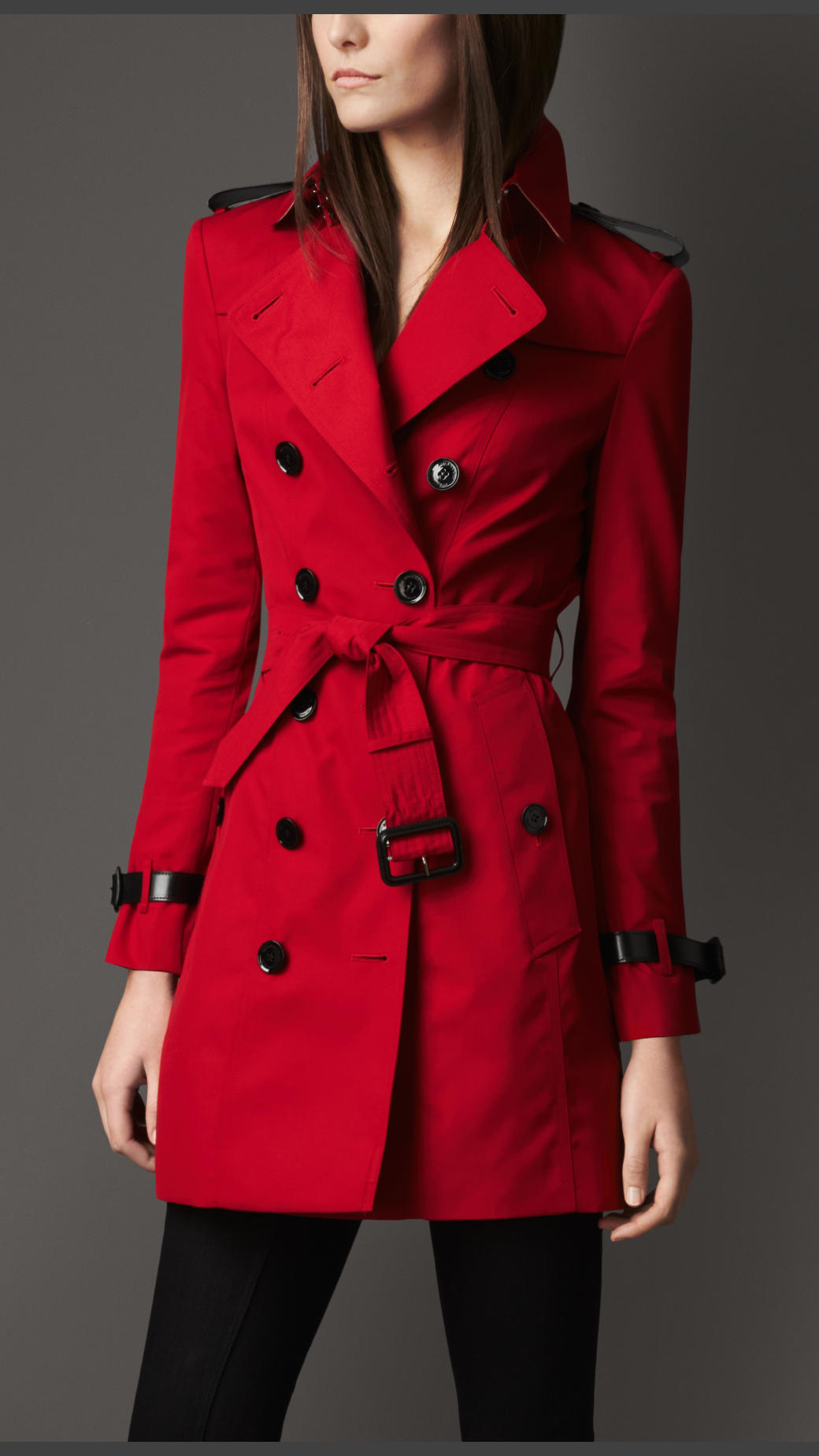 Womens red trench coat