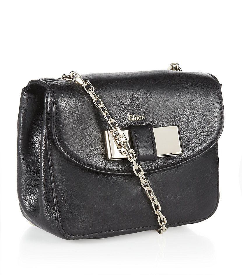 Chlo�� Mini Lily Crossbody Bag in Black (gold) | Lyst