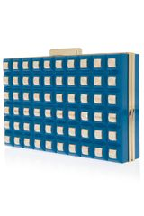 Elie Saab Grid Box Clutch - Lyst
