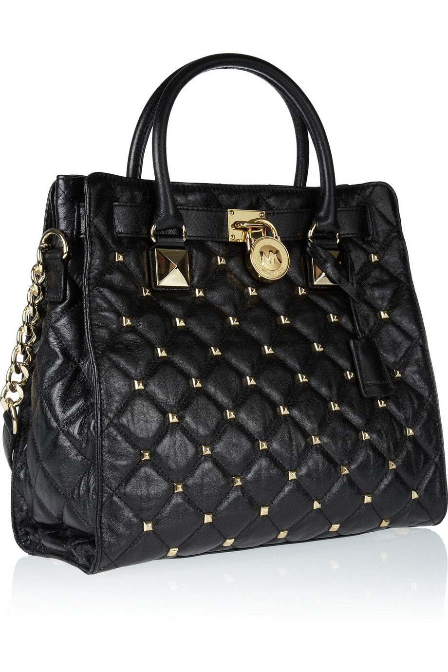 Lyst Michael Michael Kors Hamilton Studded Quilted