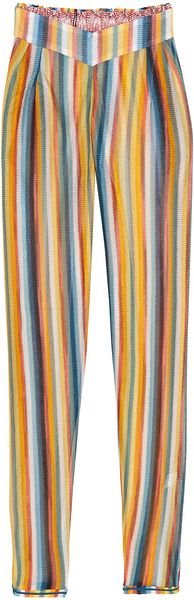 Missoni Wide Leg Lurex Trousers - Lyst