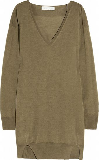 Stella McCartney Fineknit Wool and Silkblend Sweater Dress - Lyst