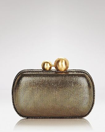 Diane Von Furstenberg  Sphere Metallic Tweed Clutch - Lyst