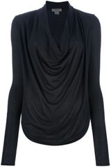 Helmut Cowl Neck Top - Lyst