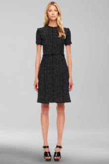 Michael Kors Metallic Tweed Dress - Lyst