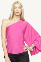Ralph Lauren Black Label Givanna Oneshoulder Top - Lyst