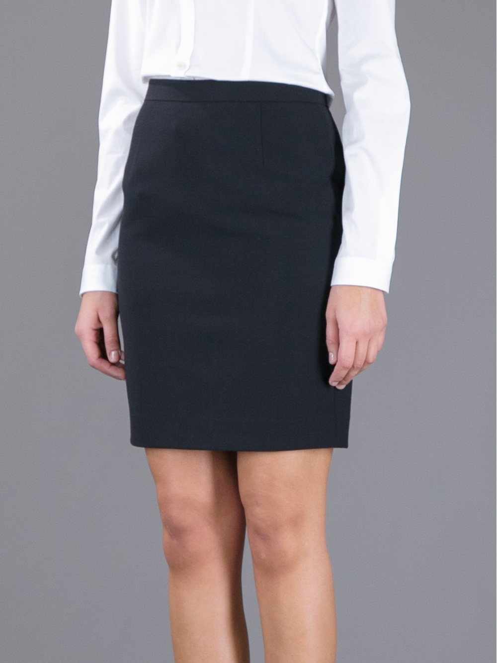 Dsquared² Short Pencil Skirt in Black | Lyst
