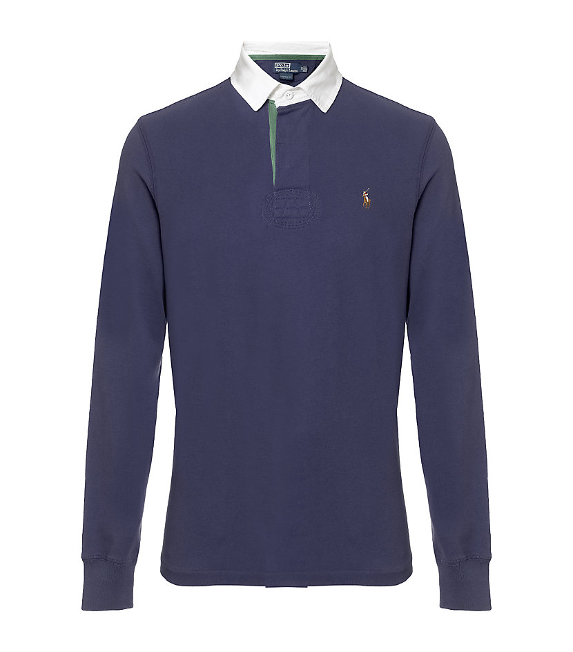 polo ralph lauren custom fit rugby shirt for men lyst
