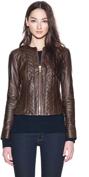Tory Burch Emmy Leather Jacket - Lyst
