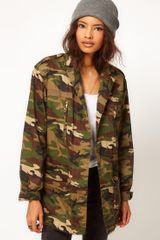 ASOS Collection  Camo Army Parka - Lyst