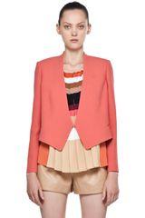 Chloé Crepe Cropped Blazer in Rose - Lyst