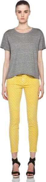 Current/elliott Polka Dot Pant in Lemon Grass in Yellow ...