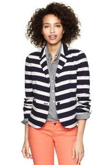 Gap Striped Ponte Academy Blazer - Lyst