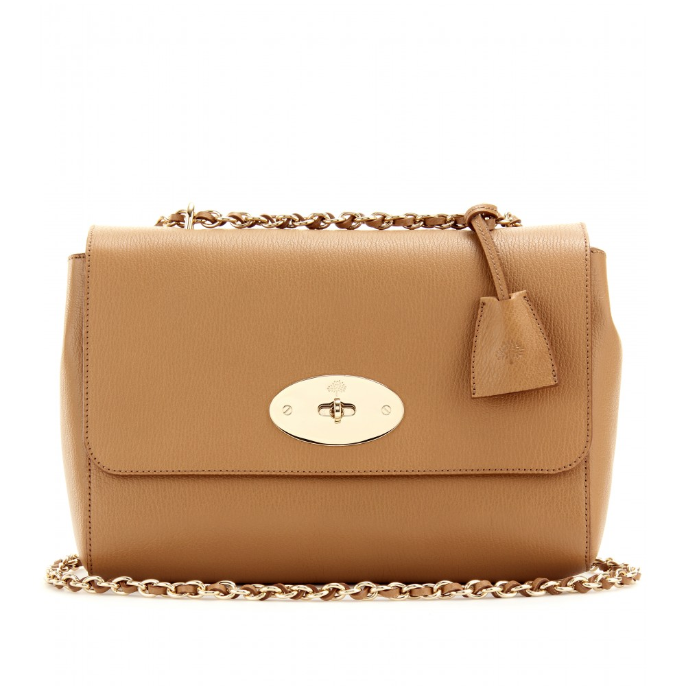 83894a99bd Lyst - Mulberry Medium Lily Grainy Leather Shoulder Bag in Natural