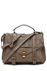 Proenza Schouler Ps1 Extra Large Leather in Smoke - Lyst