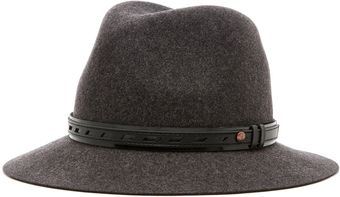 Rag & Bone Floppy Brim Fedora in Dark Grey - Lyst