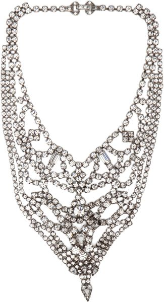 Tom Binns Triangle Crystal Necklace in White - Lyst