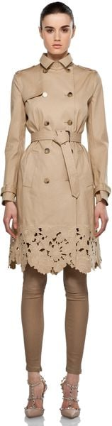 Valentino Trench in Beige - Lyst