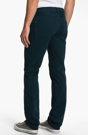 7 For All Mankind Slimmy Slim Straight Leg Jeans Dark Ivy - Lyst