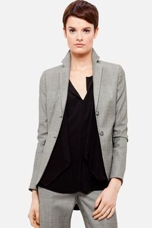Akris Punto Prince Of Wales Two Button Blazer - Lyst