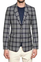 Alexander McQueen Checked Virgin Wool Jacket - Lyst