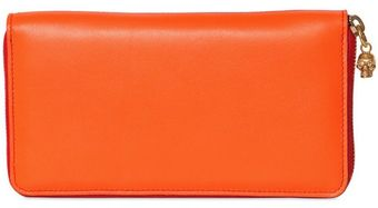 Alexander McQueen Two Tone Nappa Leather Zip Around Wallet - Lyst